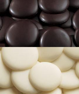 surrogato cioccolato bianco e fondente